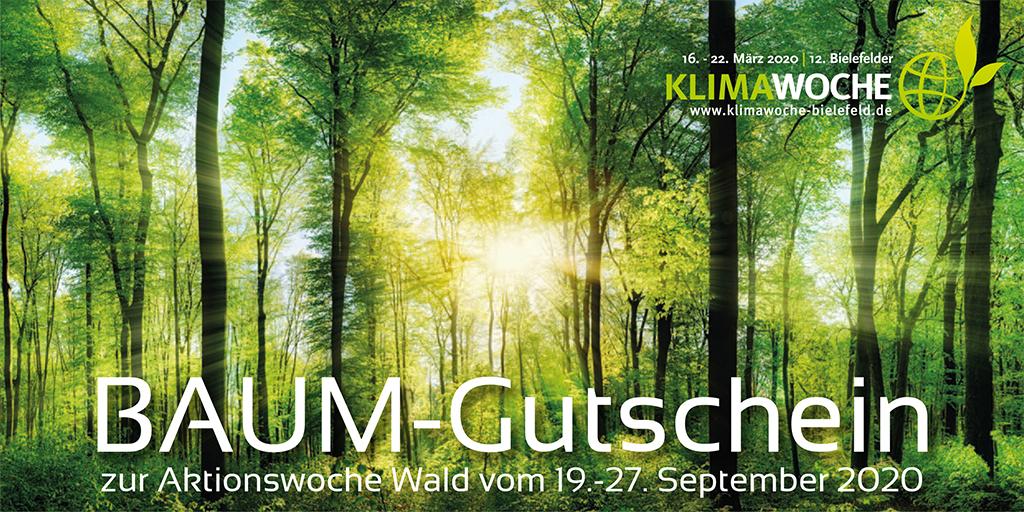 Der Baumgutschein zur Baumpflanzaktion der KlimaWoche Bielefeld